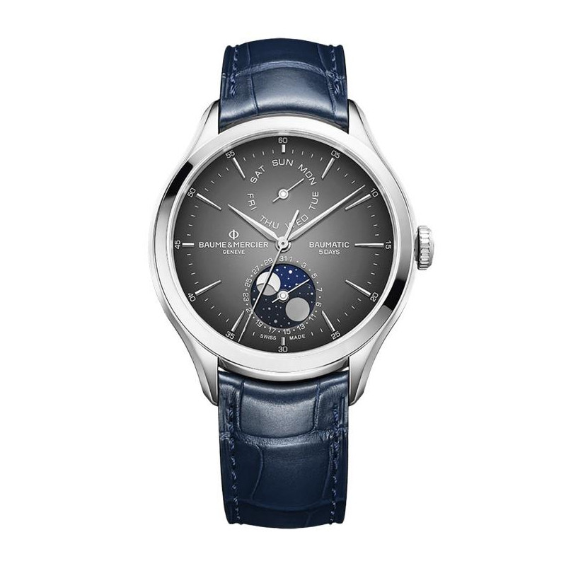 Baume & Mercier Clifton Baumatic Moonphase Grey 10548