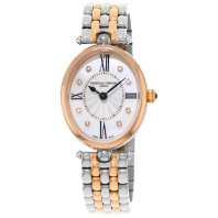 Frederique Constant - Classics Art Deco Oval Diamond Index Rose gold & Steel FC-200RMPW2V2B
