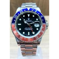 Begagnad Rolex GMT-Master Pepsi Stål 16700