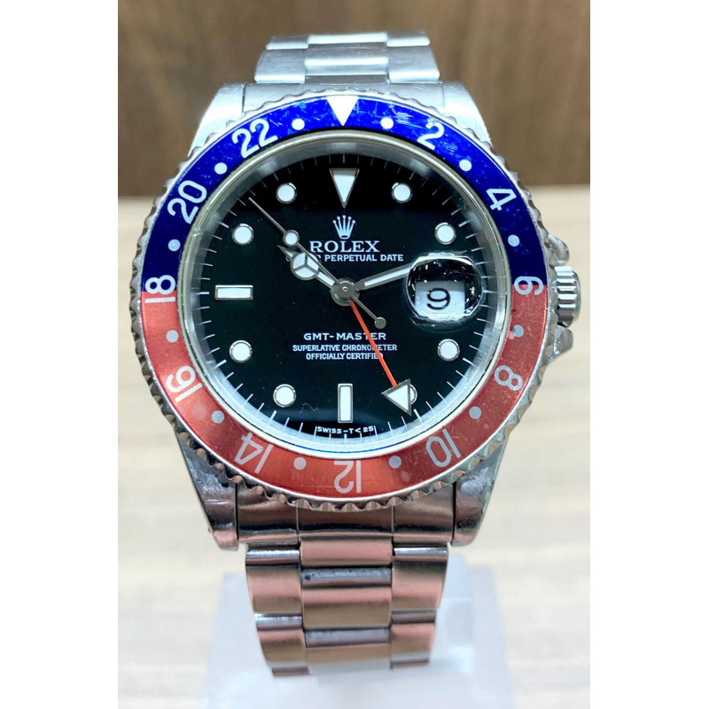 PRE-OWNED Rolex GMT-Master Pepsi Steel BEG16700