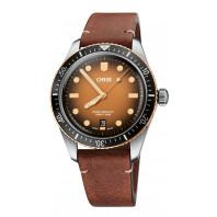 Oris - Divers Sixty-Five Bicolor Heritage 40mm Brun Urtavla & Läderband 01 733 7707 4356-07 5 20 45