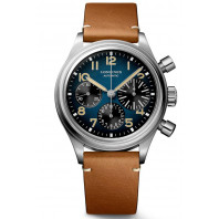 Longines Avigation BigEye 41mm Chronograpf Blue & Leather Strap   L2.816.1.93.2