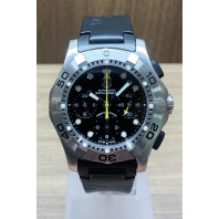 PRE-OWNED Tag Heuer Black Chrono Twins Rubber Strap