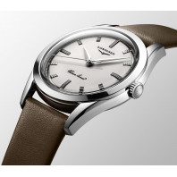 Longines Heritage Silver Arrow 38,5mm White & Leather Strap