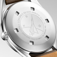Longines - Heritage Silver Arrow 38,5mm White & Leather Strap L28344722