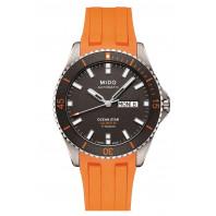 Mido Ocean Star 200 Titan & Gummiband Orange