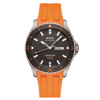 Mido Ocean Star 200 Titanium & Rubber Strap Orange
