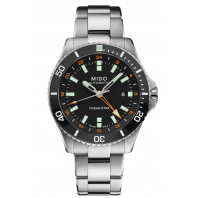 MIDO Ocean Star GMT 44mm Black & Steel Bracelet