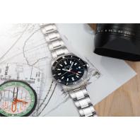 MIDO Ocean Star GMT 44mm Black & Steel Bracelet