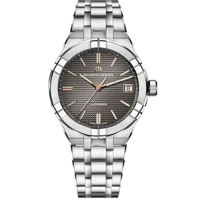 Maurice Lacroix - Aikon Automatic 39mm Grey & Steel Bracelet AI6007-SS002-331-1