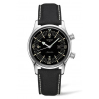 Longines - Legend Diver 36mm Black & Leather Strap L33744500