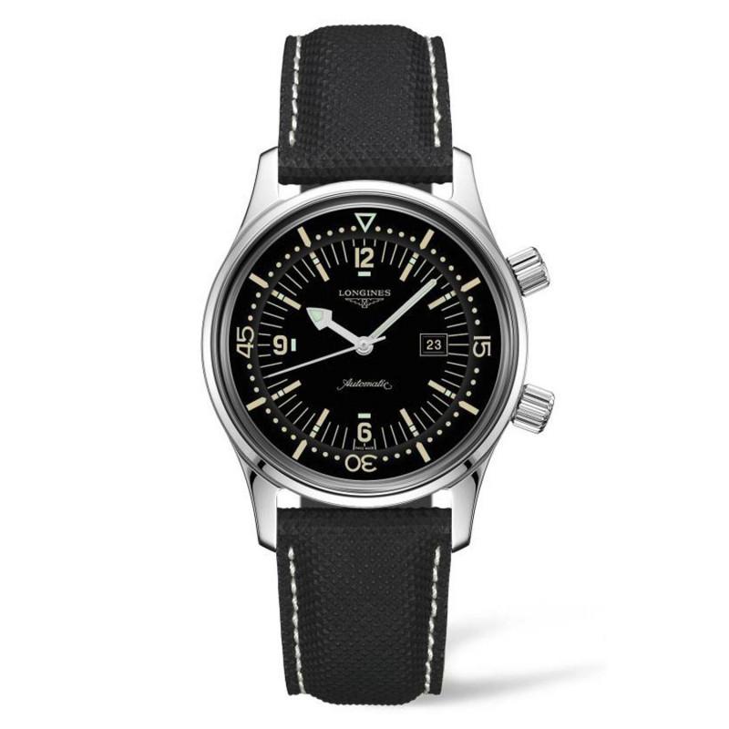 Longines - Legend Diver 36mm Black & Leather Strap L33744500