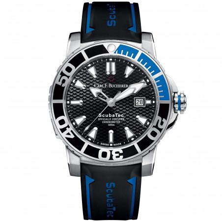 Carl F. Bucherer - Patravi Scubatec Black Black & Blue Bezel - 00.10632.23.33.01