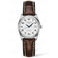 Longines - Master 29mm Silver & Alligatorband L22574783