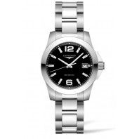 Longines - Conquest 34mm Quartz Black & Steel Bracelet L33774586