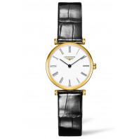 Longines - La Grande Classique 24mm Gold PVD, Roman & Leather strap L42092112