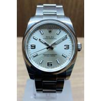 PRE-OWNED Rolex Oyster Perpetual Silver & Steel Bracelet 114200