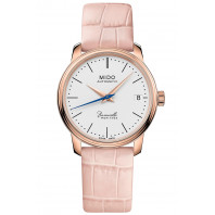 MIDO - Baroncelli Heritage Lady Rose Gold & Leather strap M0272073601000