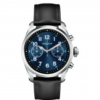 Montblanc - Summit 2 Smartwatch Stainless Steel Black & Leather MB119440