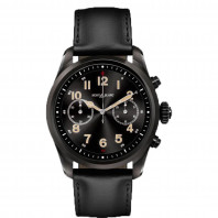Montblanc - Summit 2 Smartwatch Stainless Steel Black & Leather MB119438