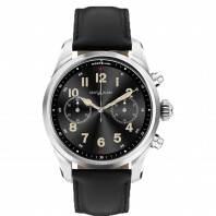 Montblanc - Summit 2+ Smartwatch Stainless Steel & Black Leather MB127647