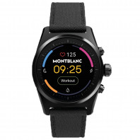 Montblanc - Summit Lite Smartwatch Aluminium Black & Fabric MB128409