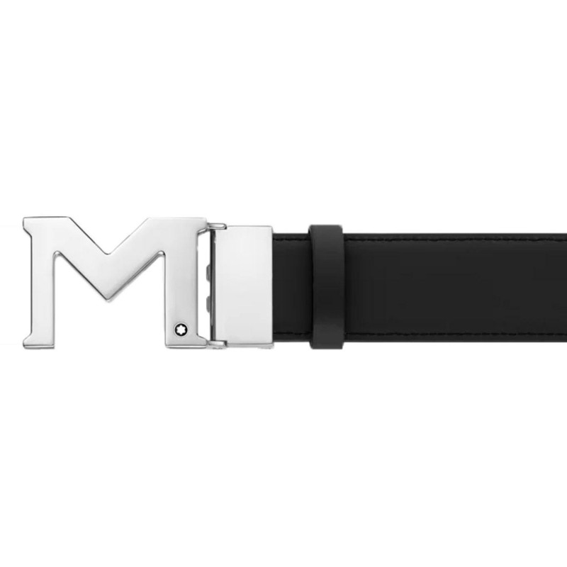Montblanc - M Buckle Palladium Finish Belt MB127697