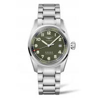 Longines Spirit - 40 mm Green Dial & Steel Bracelet L3.810.4.03.6
