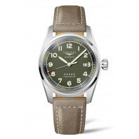 Longines Spirit - 42 mm Green Dial & Brown Leather Strap L3.811.4.03.2