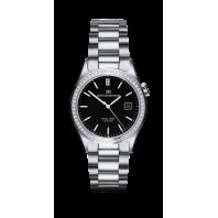 Sjöö Sandström - Royal Steel Classic 36 mm Diamond Bezel Black Dial & Steel Bracelet 020883