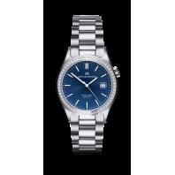 Sjöö Sandström - Royal Steel Classic 36 mm Diamant Bezel Blue Dial & Steel Bracelet 020920