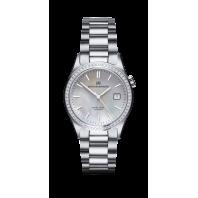 Sjöö Sandström - Royal Steel Classic 36 mm Diamant Bezel White Pearl Dial & Steel Bracelet 020906