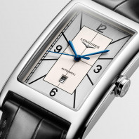 Longines - DolceVita Sector Dial Silver Dial & Black Leather Strap L5.767.4.73.0