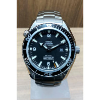PRE-OWNED Omega Seamaster Planet Ocean Black & Steel Bracelet 22005000