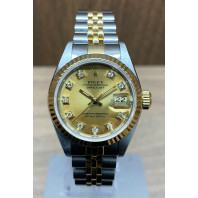 PRE-OWNED Rolex Lady-Datejust 26mm Steel & Gold & Diamonds 69173