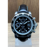 PRE-OWNED Montblanc Sport Chronograph Steel Bracelet & Leather Strap7034