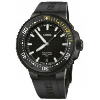 Oris - AquisPro Date Calibre 400 Svart Urtavla & Svart Gummiband 01 400 7767 7754-07 426 64BTEB