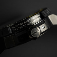 Oris - AquisPro Date 49.50 mm Black Dial & Black Rubber Strap 01 400 7767 7754-07 426 64BTEB