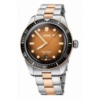 Oris - Divers Sixty-Five 40 mm Brown Dial & Steel Bracelet 01 733 7707 4356-07 8 20 17