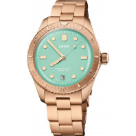 Oris - Divers Sixty-Five Cotton Candy 38 mm Green Dial & Bronze Strap 01 733 7771 3157-07 8 19 15