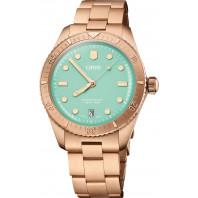 Oris - Divers Sixty-Five Cotton Candy 38 mm Green Dial & Bronze Strap 01 733 7771 3157-07 8 19 15