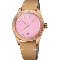 Oris - Divers Sixty-Five Cotton Candy 38 mm Pink Dial & Leather Strap 01 733 7771 3158-07 5 19 04BR