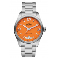 Epoch -  Automatic Calendar Limited Orange Dial & Steel Bracelet EP3510