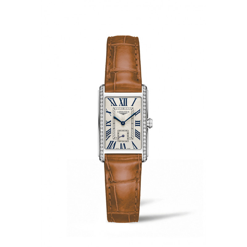 Longines - DolceVita Diamond Silver Dial & Brown Leather Strap L5.255.0.71.4