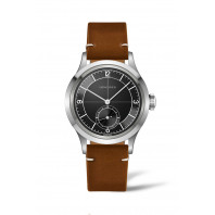 Longines - Heritage Classic 38.5 mm Black Dial & Brown Leather Strap L2.828.4.53.2