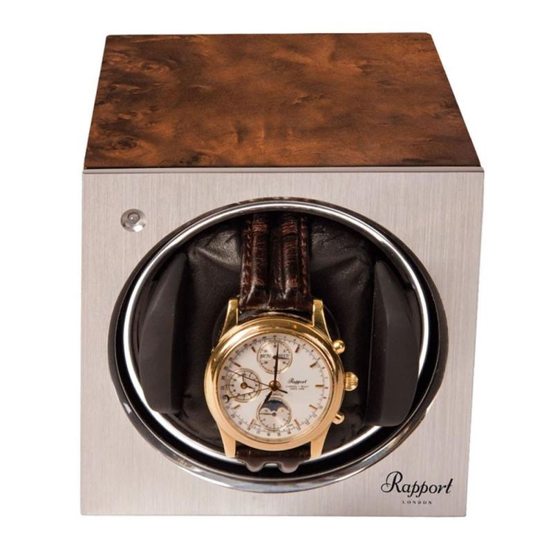 Rapport London - Tetra Mono Watch Winder Walnut W148