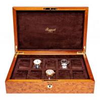 Rapport London - Heritage Klocklåda 10 Klockor Walnut L275