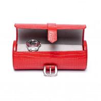 Rapport London - Brompton Three Watch Roll Red D167