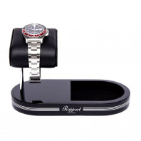 Rapport London - Formula Watch Stand With Tray Black & Silver WS20