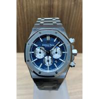 PRE-OWNED Audemars Piguet Royal Oak Chronograph 41mm Blue 26331ST.OO.1220ST.01